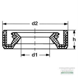 Dichtring, Wedi, Winkelgetriebe passend Schneefräse 5-7 PS