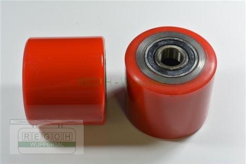 Laufrolle Polyurethan 80x70 mm mit Lager für 20 mm Welle