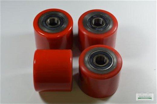 Laufrollen 4 x Polyurethan 80x70 mm mit Lager