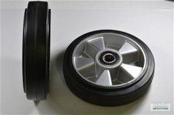 Lenkradsatz (2x) Gummi 200x50/60 mm mit Lager
