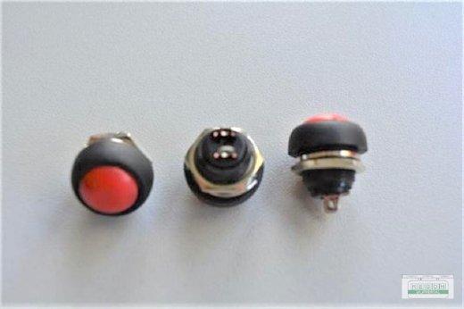 Druckschalter Taster KFZ Schalter Ø ca.11,5 mm 12V 1,5A