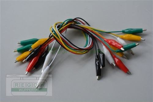 Messleitungs-Set Krokoklemmenset 10 Kabel