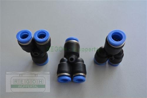 Pneumatik Reduzierung Y-Form 8-10 mm Anschluß