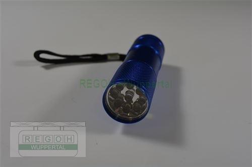 Taschenlampe Blau mit 9 LED´S Licht weiß