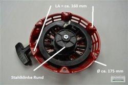 Seilzugstarter Handstarter passend Honda GX140 runde Stahlklinke + Cup