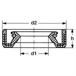 Wedi Simmerring Wellendichtring Maß 22x35x6
