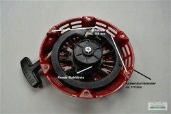 Seilzugstarter Handstarter passend Honda runde Stahlklinke Ø 175 mm