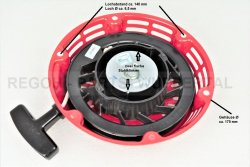 Seilzugstarter Handstarter passend Loncin flache Stahlklinke Ø 175 mm