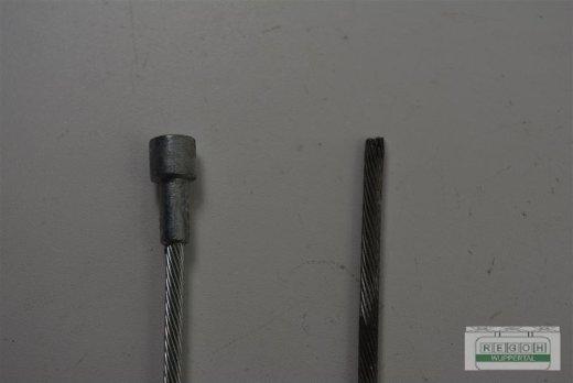 Bowdenzug Seilzug Gaszug Zylinderanschluß 6,5 x 6,5 Ø x Länge 2,5x2500 mm