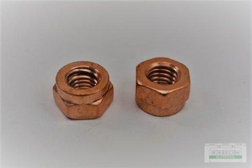 2 Stück Kupfermutter M8 Krümmermutter passend Loncin