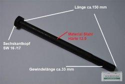 4 Stück Sechskantschraube Din 931 - 12.9  - M10 x 150