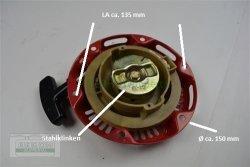 Seilzugstarter Handstarter passend Honda GX100 Flache Klinke Mit Cup