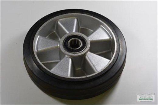 1 Stück Lenkrolle Gummi Alufelge 200x50/60 mm mit Lager