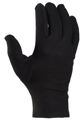 12 Paar Baumwollhandschuhe Trikothandschuhe schwarz