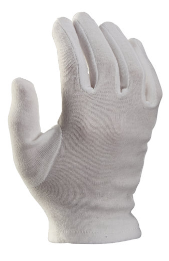 12 Paar Baumwollhandschuhe Trikothandschuhe weiß