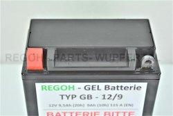 REGOH Gel Batterie 12V 7-9Ah 12N9 GT9L-BS Schneefräse Motorrad Quad