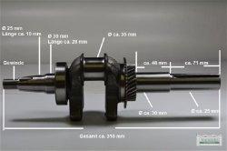 Kurbelwelle passend Honda GX270 Abgang 120 mm mit Keilnut