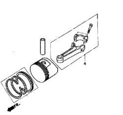 Pleuelstange Pleuel passend Honda GC160, GCV160